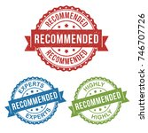recommended label stamp   Shutterstock .eps vector #746707726