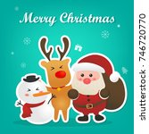 merry christmas and happy new... | Shutterstock .eps vector #746720770