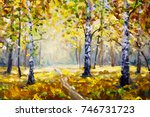 Road In Autumn Forest  ...