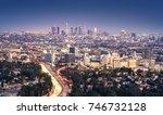 los angeles  california  usa...   Shutterstock . vector #746732128