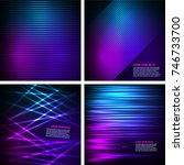 set fashion lights background... | Shutterstock .eps vector #746733700