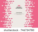 abstract pink rounded lines... | Shutterstock .eps vector #746734780