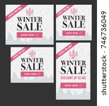 winter sale banners set | Shutterstock .eps vector #746736049