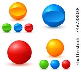 set of colored glossy spheres... | Shutterstock .eps vector #746738068