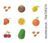 fruit vector icon set | Shutterstock .eps vector #746739274