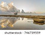 fishing boat shipwreck or... | Shutterstock . vector #746739559
