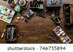 aerial view of artistic...   Shutterstock . vector #746755894