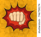 fist hitting  fist punching in... | Shutterstock . vector #746758174