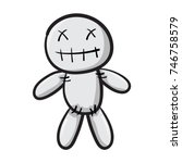 voodoo doll isolated... | Shutterstock .eps vector #746758579