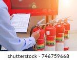 engineer inspection fire... | Shutterstock . vector #746759668