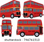 london bus | Shutterstock . vector #746761513