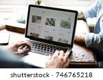 hands searching for plants buy... | Shutterstock . vector #746765218