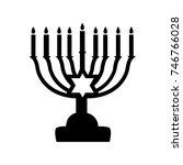 menorah symbol . vector... | Shutterstock .eps vector #746766028