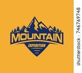 mountain adventure expedition... | Shutterstock .eps vector #746769748