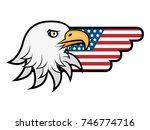 eagle with america flag wings... | Shutterstock .eps vector #746774716