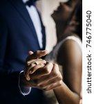 newlywed african descent couple ...   Shutterstock . vector #746775040