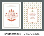 christmas greeting card design... | Shutterstock .eps vector #746778238