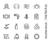 thin lines web icon set. causes ...   Shutterstock .eps vector #746781916