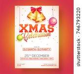 xmas celebration party poster ... | Shutterstock .eps vector #746793220