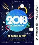 blue party flyer design for... | Shutterstock .eps vector #746793424