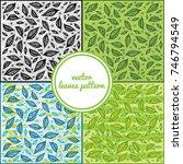 vector leaves pattern | Shutterstock .eps vector #746794549