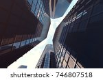 3d rendering low angle view of... | Shutterstock . vector #746807518