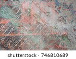 abstract multicolor grunge... | Shutterstock . vector #746810689
