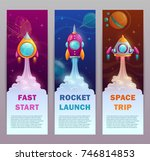 vertical space banners set.... | Shutterstock .eps vector #746814853