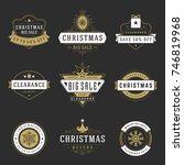 christmas sale badges  labels...   Shutterstock .eps vector #746819968
