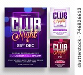 party banner or flyer with...   Shutterstock .eps vector #746826613