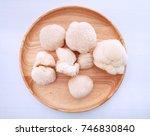 monkey s head mushroom on wood... | Shutterstock . vector #746830840