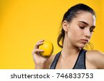 young  strong woman with a... | Shutterstock . vector #746833753