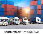 industrial logistics and... | Shutterstock . vector #746838760