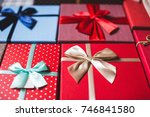stylish design background boxes ...   Shutterstock . vector #746841580