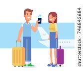 people traveling design. happy...   Shutterstock .eps vector #746842684