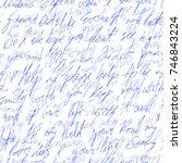 handwritten text with love...   Shutterstock .eps vector #746843224
