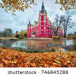 spectacular autumn morning of... | Shutterstock . vector #746845288
