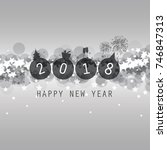 modern style silver grey new... | Shutterstock .eps vector #746847313