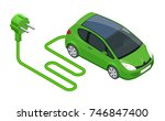 isometric electric car in... | Shutterstock .eps vector #746847400