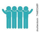 group of men icon | Shutterstock .eps vector #746852689