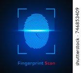 finger print scanning... | Shutterstock .eps vector #746853409