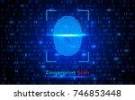 finger print scanning...   Shutterstock .eps vector #746853448