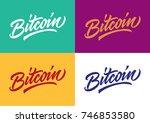 bitcoin cryptocurrency handmade ... | Shutterstock .eps vector #746853580