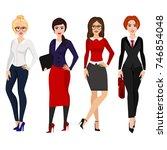 vector illustration of four... | Shutterstock .eps vector #746854048