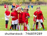 kids soccer football   young... | Shutterstock . vector #746859289
