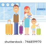 happy family travel together.... | Shutterstock .eps vector #746859970