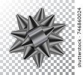 gray bow ribbon decor element... | Shutterstock .eps vector #746860024