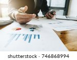 business man investment... | Shutterstock . vector #746868994