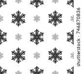 snowflake simple seamless...   Shutterstock .eps vector #746870836