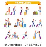 people traveling design.... | Shutterstock .eps vector #746874676